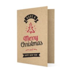 Kraft Christmas cards personalisation
