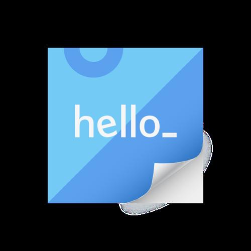 Vierkante stickers bedrukt en besteld bij Helloprint