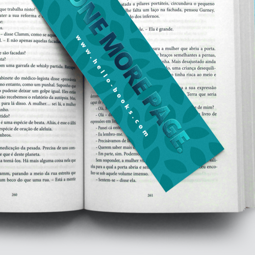 Bookmarks with Spot UV foil paper finish, available at Helloprint