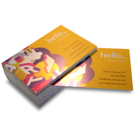 Metalic shiny business cards available at Helloprint with customised printing solutions for cheap prices