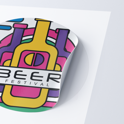 Custom size sticker with kiss-cut in your own shape Helloprint