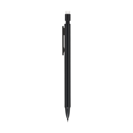A black coloured refillable pencil available with custom printing options for a cheap price at Helloprint