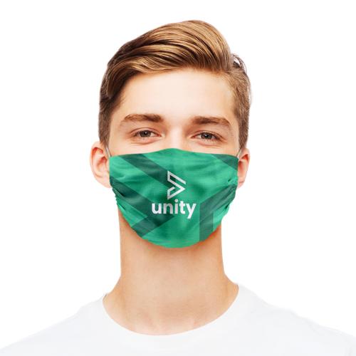 Gestreifte Polyester-Gesichtsmasken sind mit schneller Lieferung unter Helloprint erhältlich