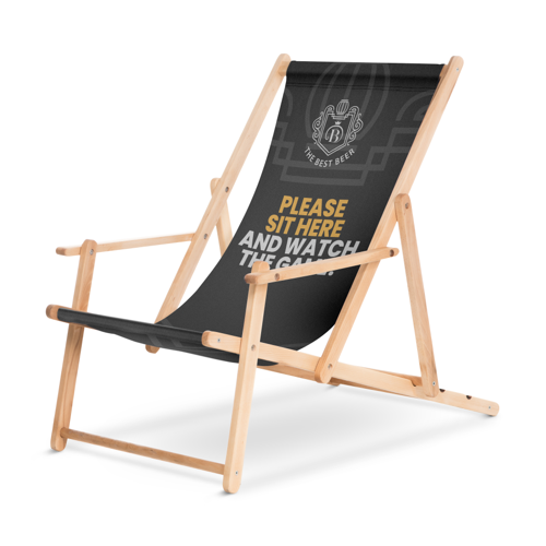 Printed Deck Chairs for Sports Events by Helloprint