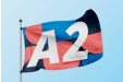 An A2 flag available at Helloprint with customised printing options for a cheap price