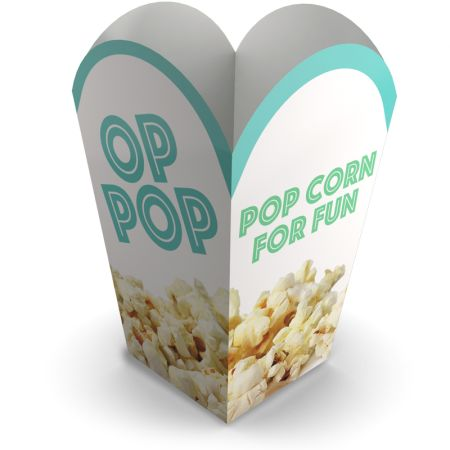 Printed custom popcorn boxes to brand your business and events.  Learn more about our products and easily order print online at Helloprint