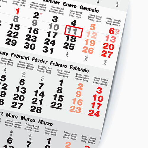 An exemplar of a printed calendar, available at Helloprint with customised printing solutions for a cheap price