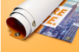 An outdoor rolled up banner available at Helloprint with customised printing solutions for a cheap price