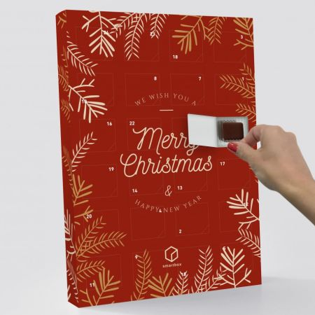 Christmas advent calendar to be opened once a day. Calendar design can be personalised with Helloprint.