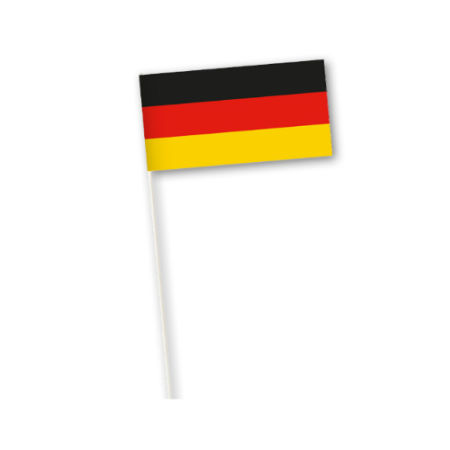 A German flag printed on a paper country flag, available at Helloprint for a cheap price