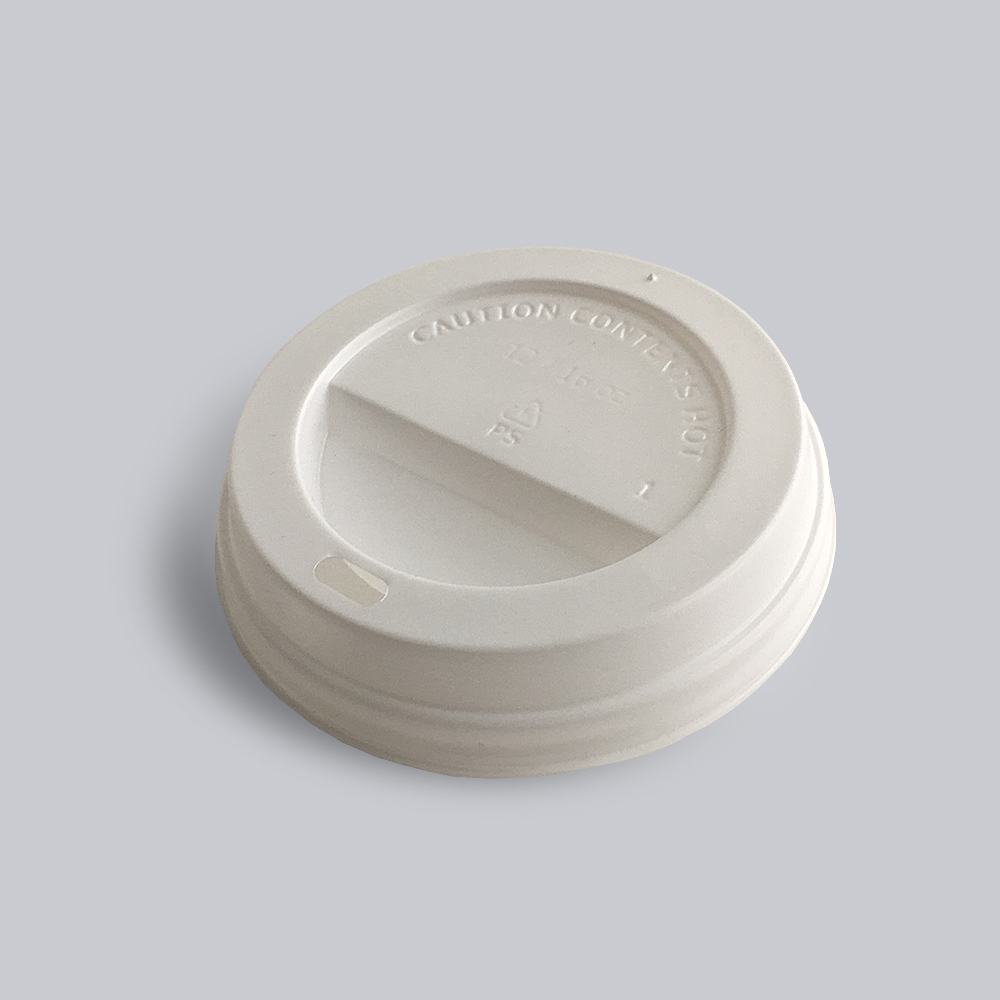 A white coloured paper cup cap for printed cups available at Helloprint with personalised printing options