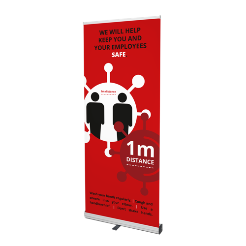 COVID-19 roll-up banners - Rood