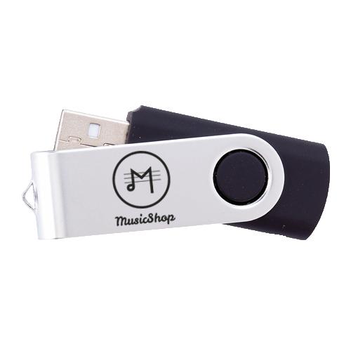 Een zwarte USB stick, te bedrukken met jouw logo bij Helloprint.
