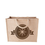 Print your sustainable jute shopper with a 4 colour quality print.
