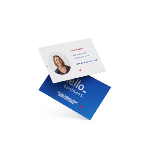 Druk je eigen visitekaartjes af bij Helloprint. Gratis verzending,