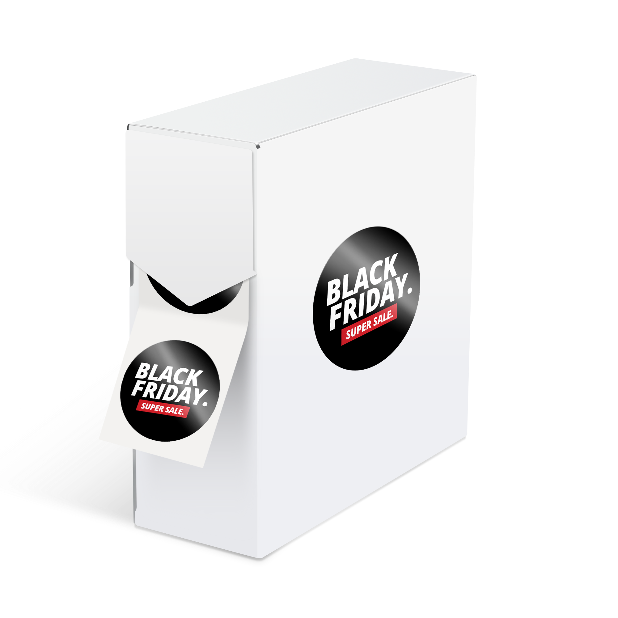 Stickers drukken voor Black Friday