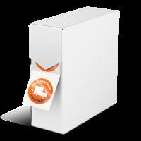 Vita etiketter på rulle – snabb leverans