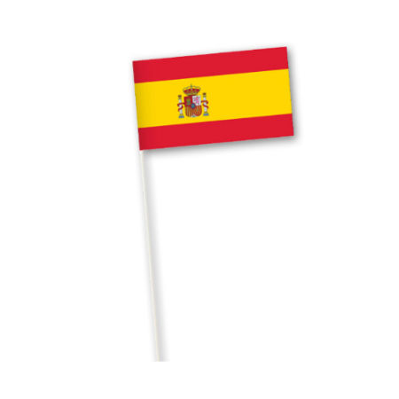 An example of a Spanish printed paper country flag available for cheap at Helloprint with custom printing options