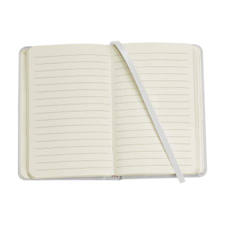 An open A6 pocket notebook available with personalised printing options for a cheap price at Drukzo