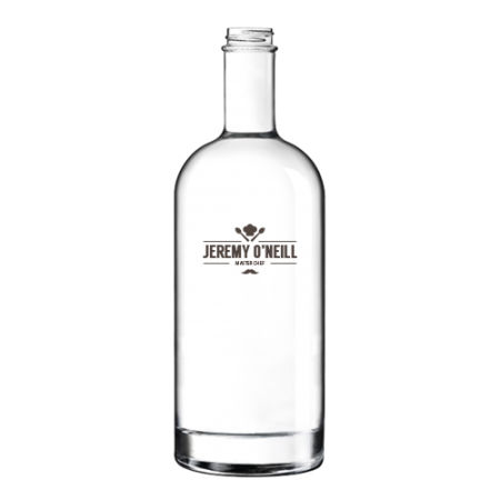 A 1 litre classic glass bottle available with personalised printing solutions at a cheap price at Helloprint