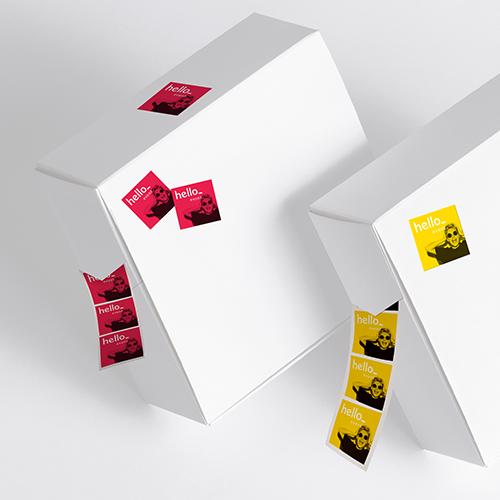 PVC stickers op rol met gratis dispenser Helloprint