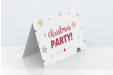 A product image of a customisable Christmas card available with a printed festive personalised message at Helloprint