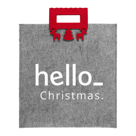 Christmas themes bag made of felt. At Helloprint you can personalise it with your own logo or design.