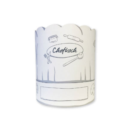A custom printed chef hat available at a cheap price at Helloprint with custom printing options