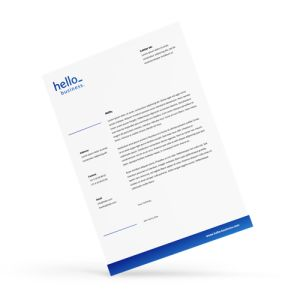 Invoice paper personalisation