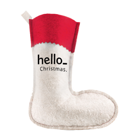 Cheap Christmas stocking for gifts which can be personalised with your own text or logo with Helloprint.