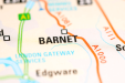 A map icon of Barnet used to indicate that Helloprint offers printing solutions in Barnet