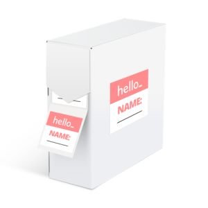 standing Writable labels on roll