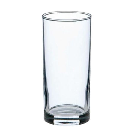 A product image of a 27 cl long drinking glass availabel with a personalised image or logo printed on the side at Helloprint