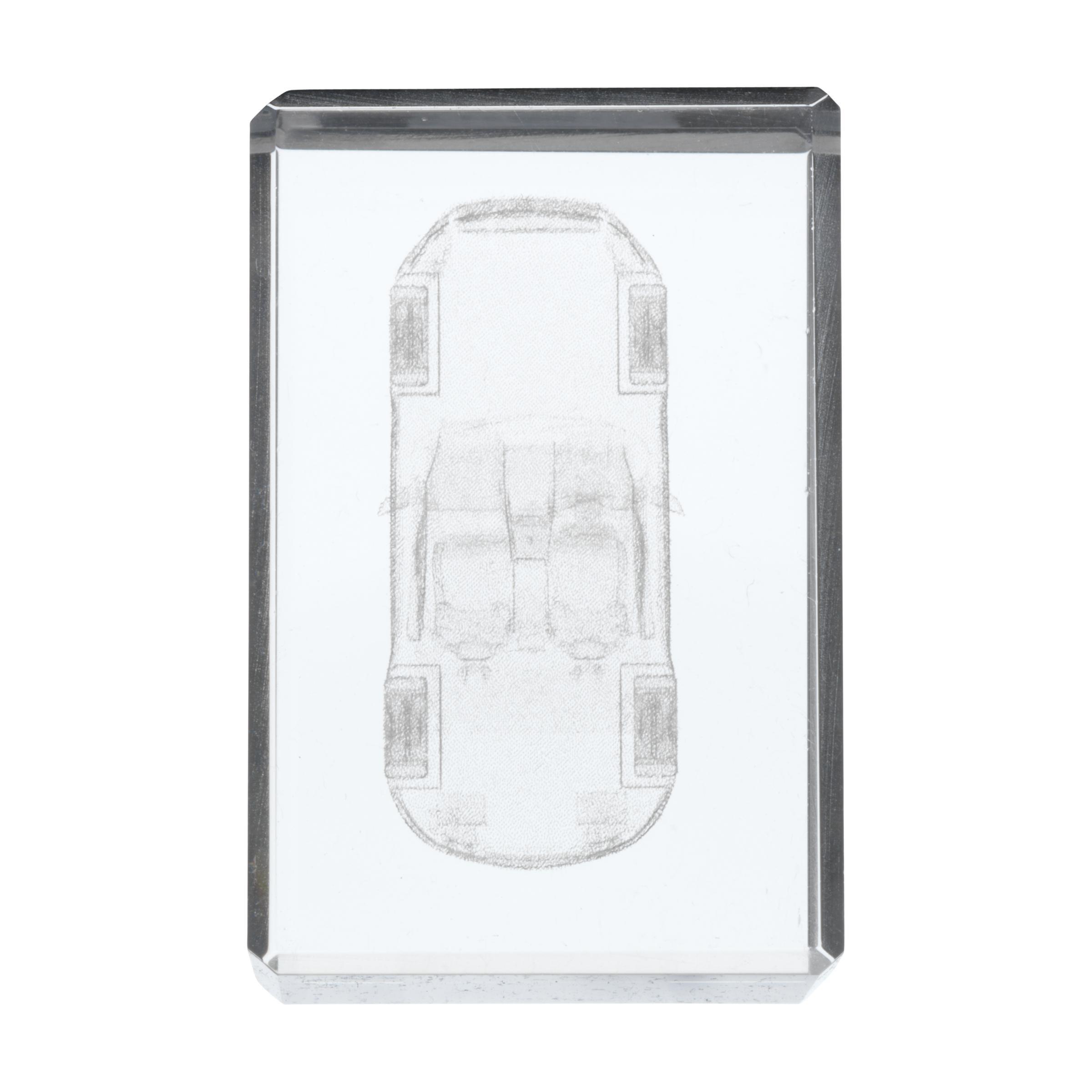 Staande usb crystal solid for Verwijderbaar glas