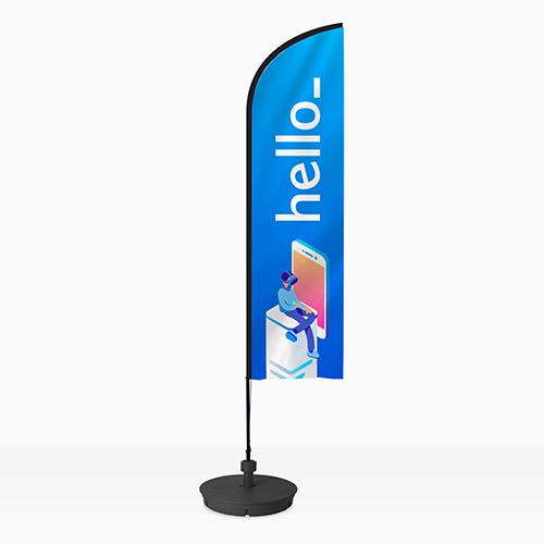 Wingflag mit Halterung bei Helloprint