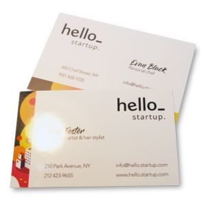 Laminated Business Cards  with logo