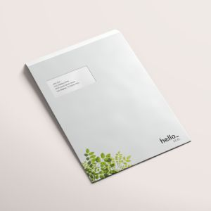 Recycled paper envelopes from Helloprint