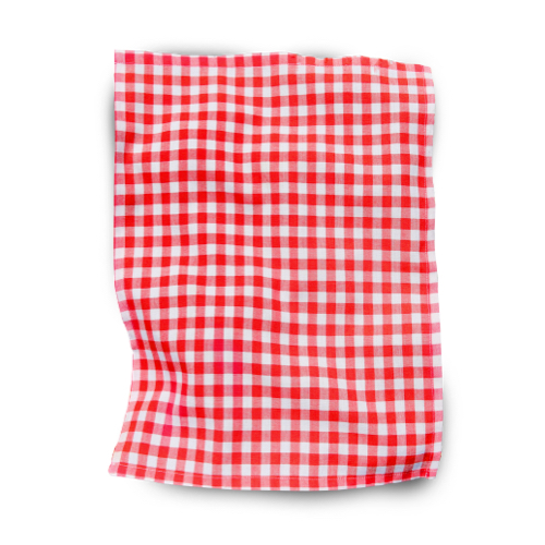 Image of a red and white picnic blanket. Personalise at Helloprint now!
