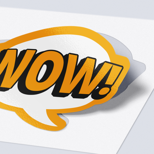 Clean cut stickers with gloss lamination in your personal shape and design from Helloprint