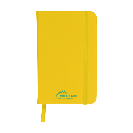 A yellow coloured A6 pocket notebook available at Drukzo with custom printing options for a cheap price