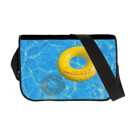 Cheap cross body travel bag which can be personalised at Helloprint. Ideal for company employees.