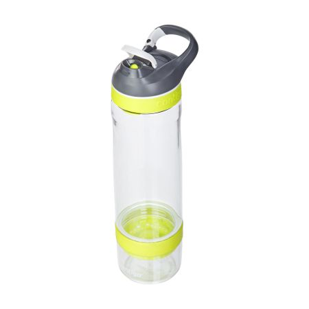 A yellow Contigo Cortland Infuser water bottle available at Helloprint with personalised printing options for a cheap price