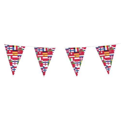 Personalised Bunting Flags for Sports Events by Helloprint