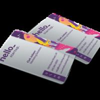 Cartões de PVC transparentes