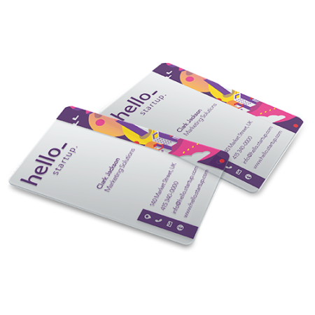 Weiße Pvc Visitenkarten