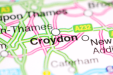 A map icon of Croydon used to indicate that Helloprint offers printing solutions in Croydon