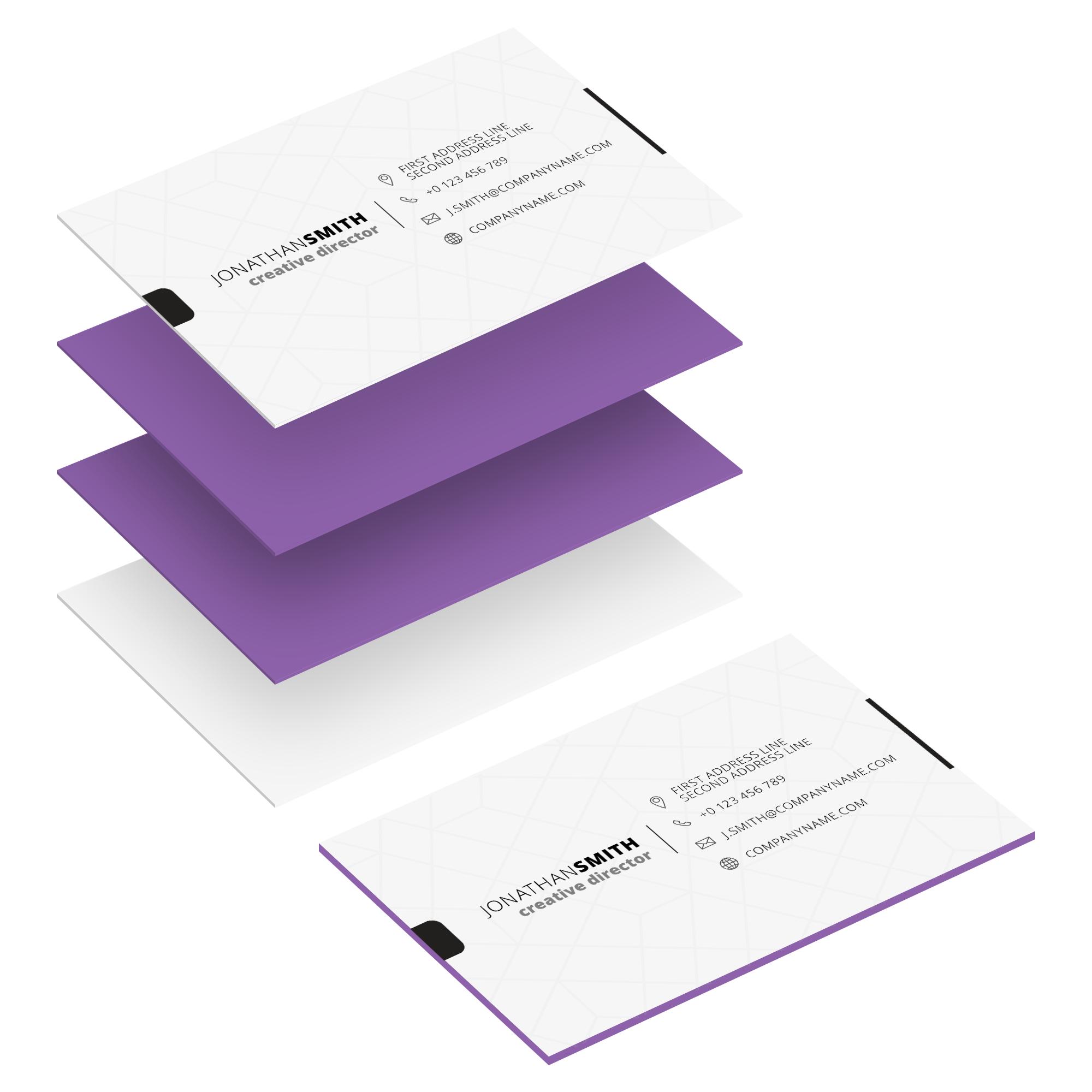 Vielschichtige Visitenkarten Helloprint