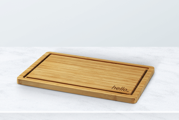 personalised chopping board with logo
