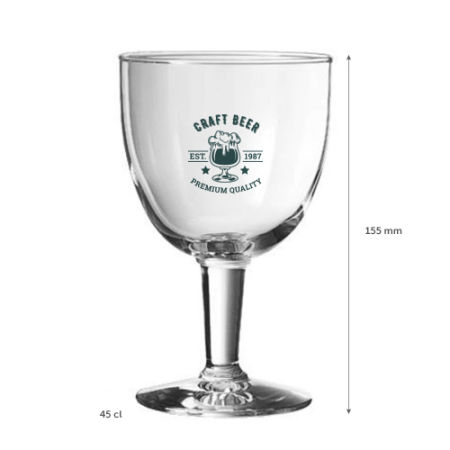 A 45 cl special beer glass available with custom printing solutions for a cheap price at Helloprint