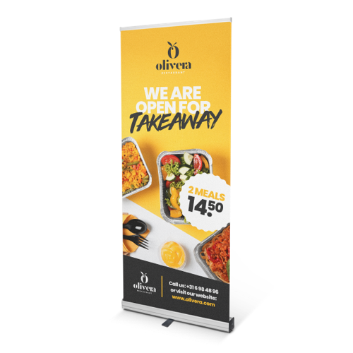 Promo roller banners are the ultimate marketing tool, print your own today